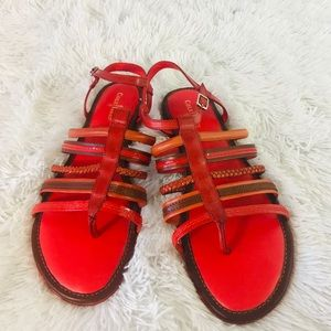 Cole Haan Womens Strappy Sandals Size 10 Red